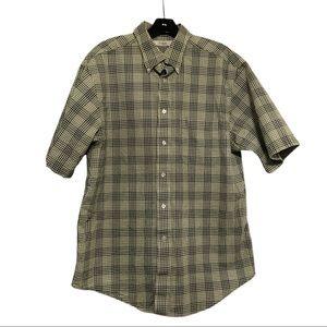 Turnbury Plaid Seersucker Shirt, Green, Size L